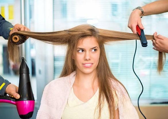 asciugatura dei capelli