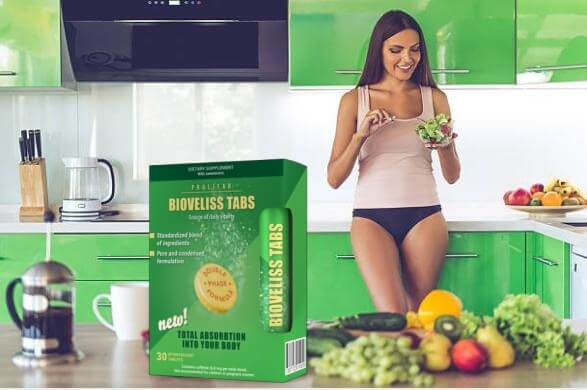 bioveliss tabs, ragazza in cucina