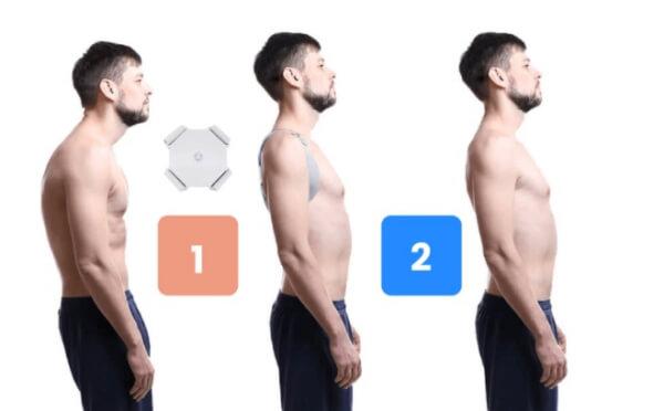 corrector de postura y mentón