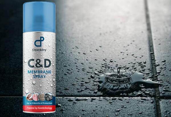 C & D Waterproof Membrane Spray, goccia d'acqua sul pavimento