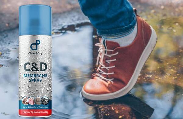 C & D - Spray de membrana impermeable, ¡el impermeabilizante que repele el agua y la suciedad!