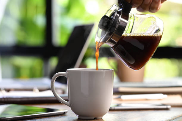 caffeina, tazza, brocca
