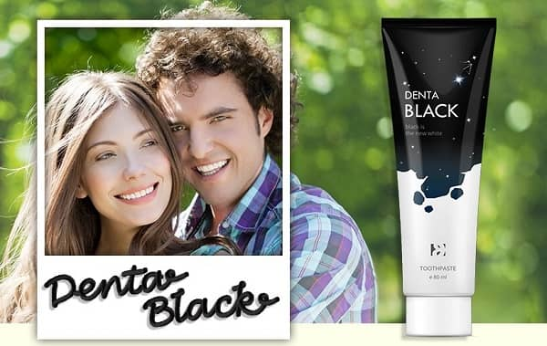 Denta Black - Pasta de dientes que hará que tus dientes sean muy blancos y saludables.