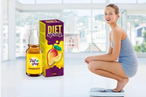 diet spray, perdita di peso, donna