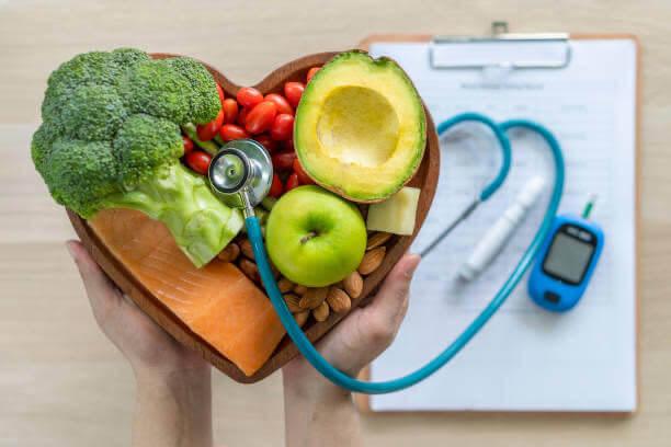 médico, la presión arterial, manzana, queso