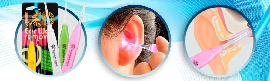Cera del oído removedor LED