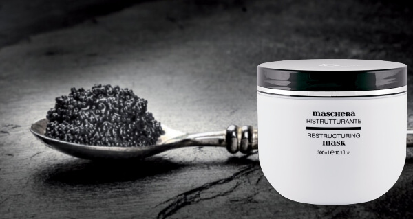 Goccia Nera Caviar Therapy: la revolucionaria mascarilla reestructurante para cabello con caviar
