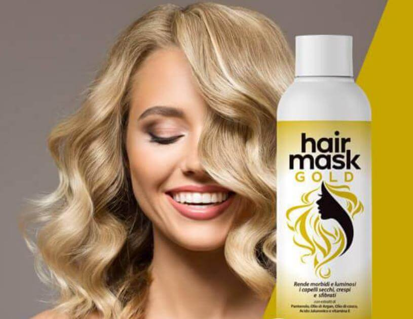 hair gold mask, capelli