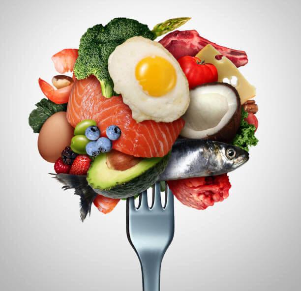 delicioso, pescado, huevo, dieta ceto