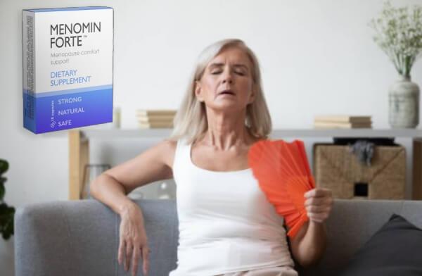 menomin forte capsule, donna, menopausa