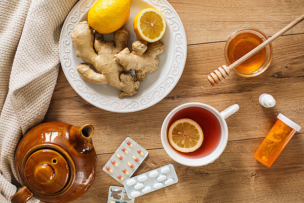 enfermedades, el té, el autocuidado, limones